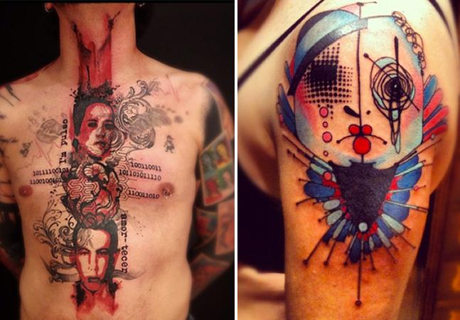 As tatuagens contemporâneas do artista brasileiro Victor Montaghini