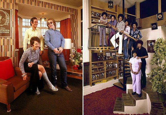 Série fotográfica curiosa mostra astros do rock dos anos 70 na casa de seus pais