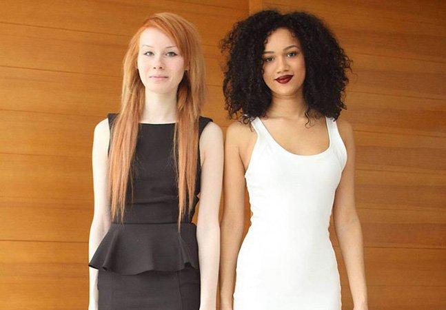 Você não vai acreditar que estas duas garotas são irmãs gêmeas