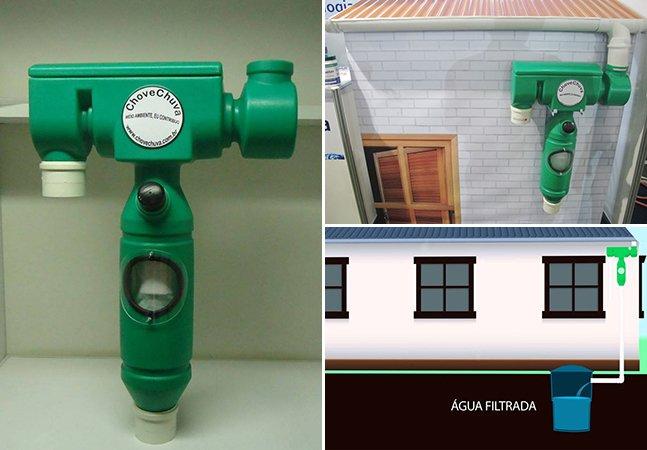 Empresa brasileira vende filtro para captar e reaproveitar água da chuva