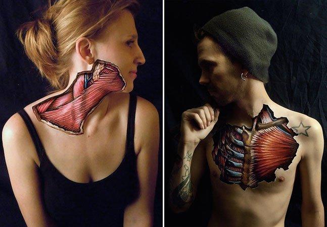 Os resultados fantásticos da junção de arte com anatomia