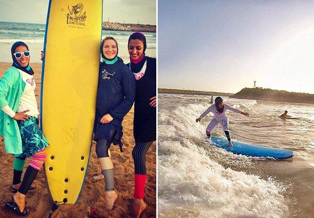 Mulheres iranianas usam o surf para combater o machismo no país