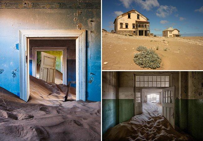A cidade fantasma na Namíbia onde o deserto tomou conta das casas