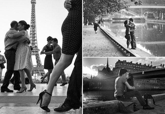 Cidade do amor: série fotográfica capta momentos de amor em Paris