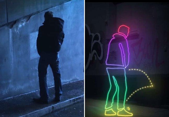 Isso é o que acontece com homens que fazem xixi na rua na Alemanha