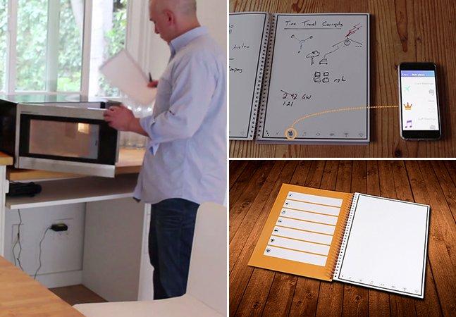 Caderno inovador de papel  guarda suas anotações na nuvem e pode ser apagado no micro-ondas