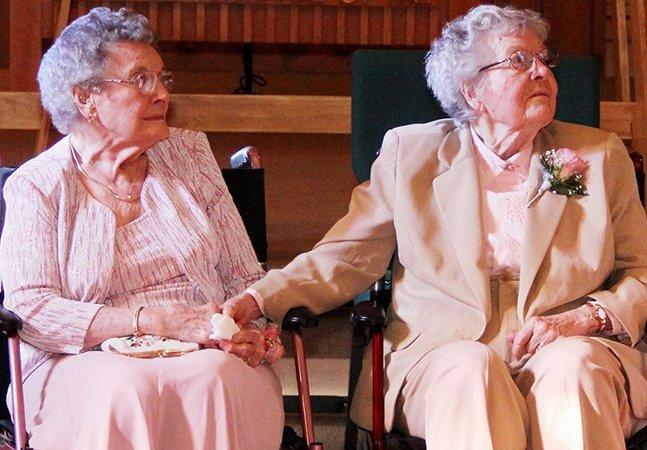 Depois de 72 anos de namoro, elas finalmente puderam se casar