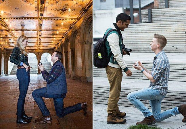 Fotógrafo capta em segredo pedidos de casamento pela cidade de Nova York