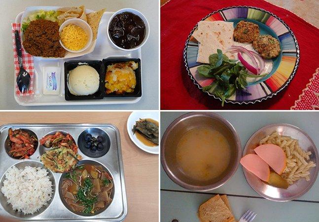 Como são os almoços das crianças em escolas ao redor do mundo