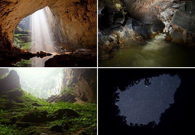Drone capta imagens incríveis de dentro da maior caverna do mundo