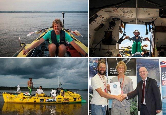 Estes dois aventureiros foram os primeiros a atravessar a remo o segundo maior rio do mundo