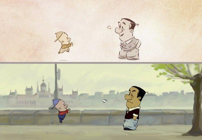 Animação mostra como estamos acostumados a esconder emoções