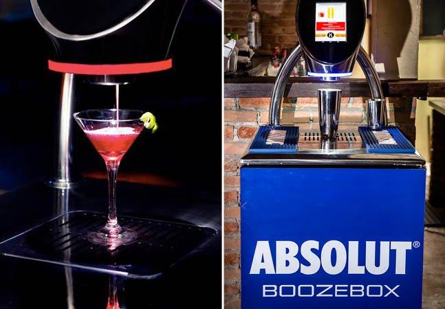 """A incrível """"impressora de drinks"""" que está sendo testada em um bar de SP"""