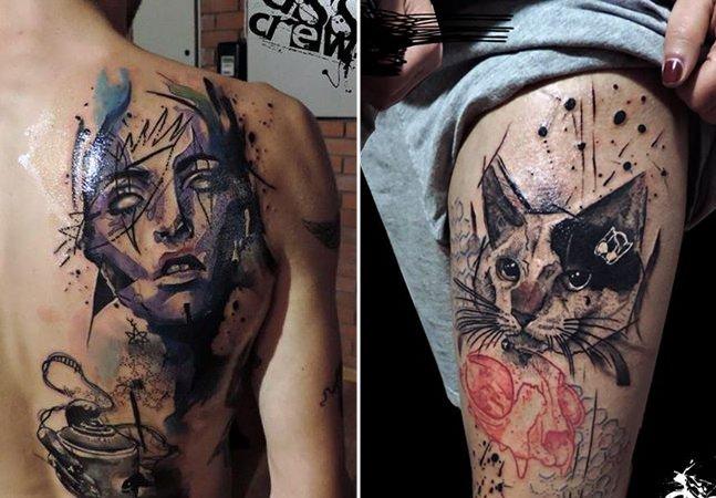 As tatuagens marcantes inspiradas na arte de rua do grego George Drone