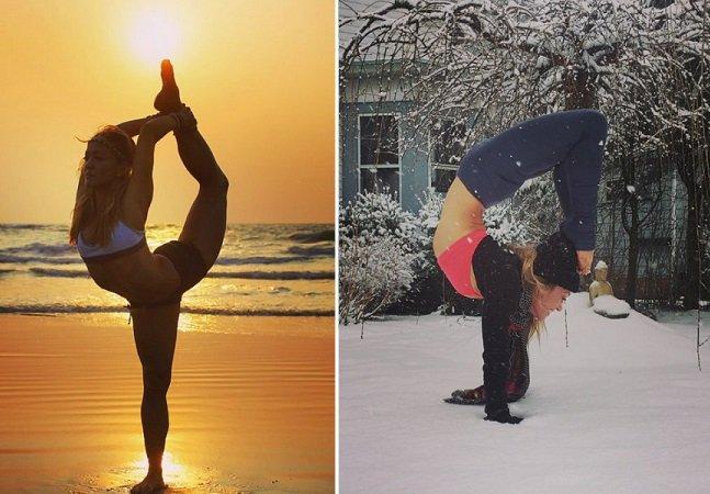 Professora de Yoga viaja o mundo dando aulas e faz sucesso nas redes sociais