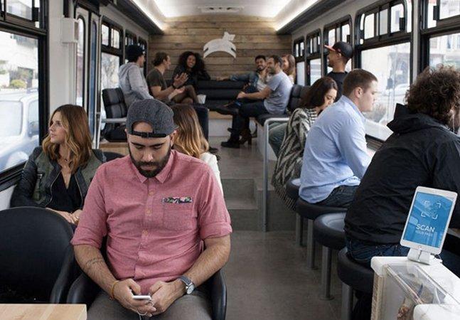 Ônibus em São Francisco funciona como café e escritório e promete tornar viagens na cidade mais produtivas