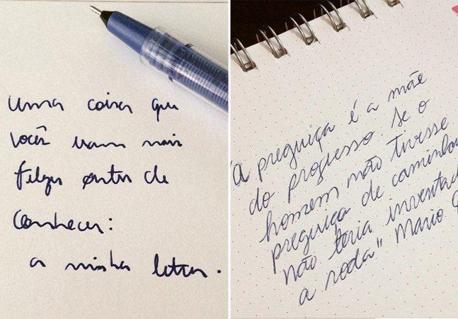 Movimento no Instagram convida pessoas a mostrarem suas letras cursivas