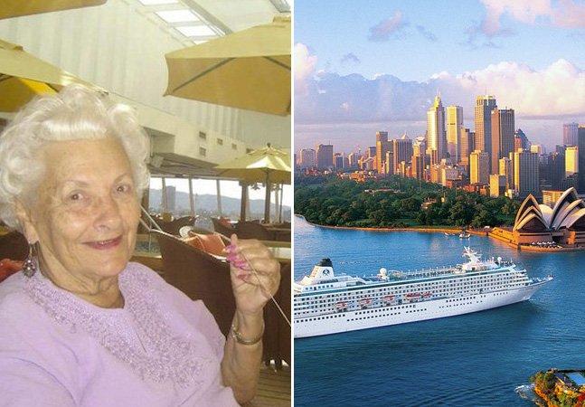A senhora de 86 anos que  mora em navios de cruzeiro há mais de uma década