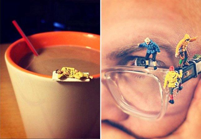Publicitário usa miniaturas e muita criatividade para mostrar o dia a dia de uma agência em série no Instagram