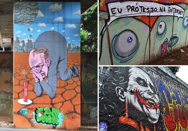 Os novos graffitis da 23 de Maio em SP pelas lentes do Hypeness