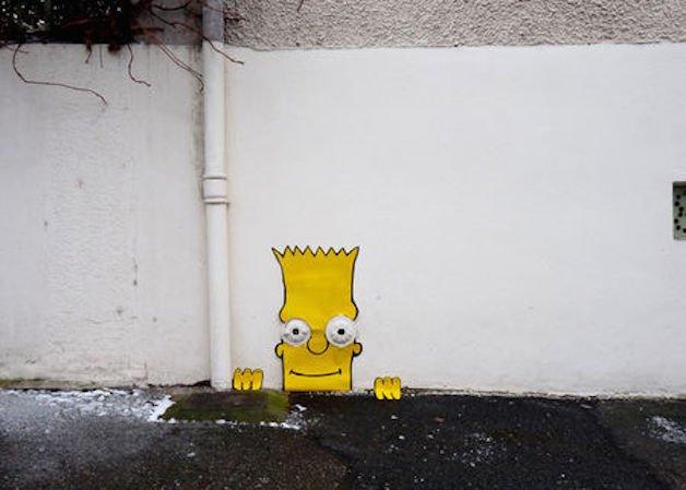 simpsom no muro