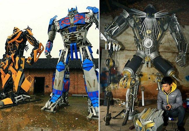 Pai e filho faturam U$ 160 mil com esculturas feitas de materiais achados no lixo