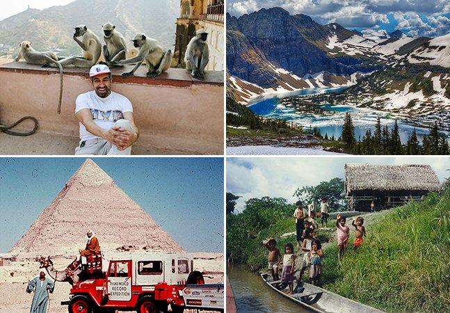 Ele conheceu todos os países do mundo ao passar 50 anos viajando
