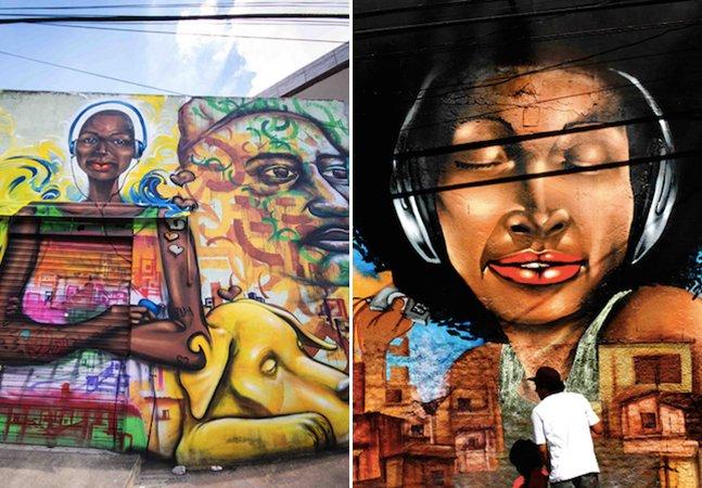 Conheça os grafites da Galeria a Céu Aberto no coração da Zona Leste de SP