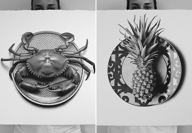 Ilustradora posta um novo desenho hiperrealista no Instagram a cada 24h