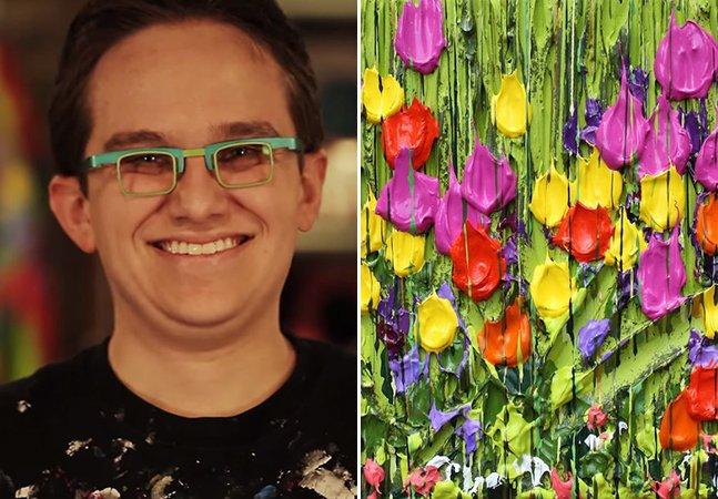 Pintor deficiente visual arrecada mais de U$ 1 milhão para projetos sociais com seus trabalhos em 3D