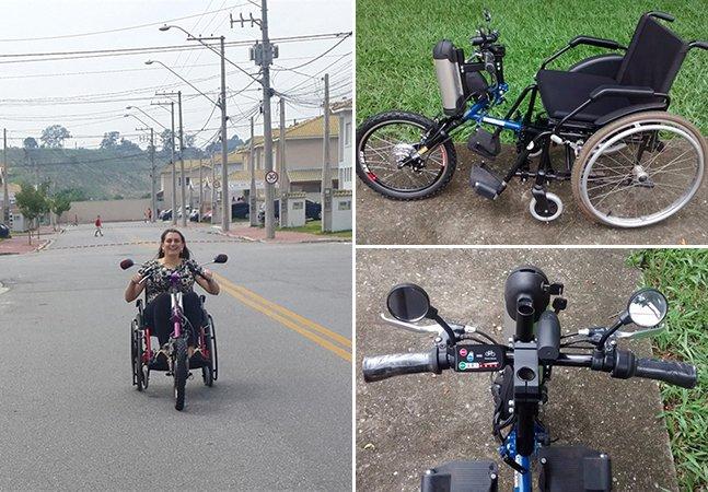 Empreendedores transformam cadeira de rodas em triciclo motorizado