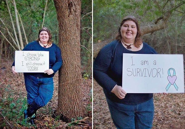 Vítima de abuso sexual cria série de fotos corajosa para inspirar outras mulheres a quebrar o silêncio