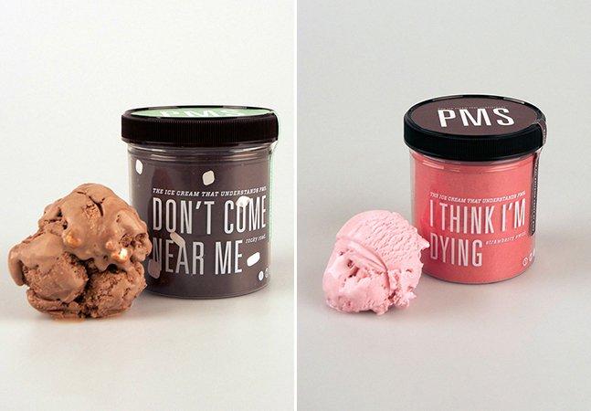 Designer cria marca de sorvetes que descreve como as mulheres se sentem na TPM