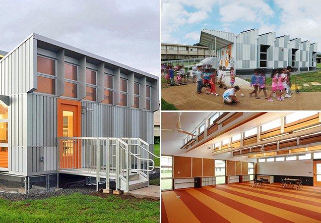 Conheça as salas de aula móveis que produzem mais energia do que consomem