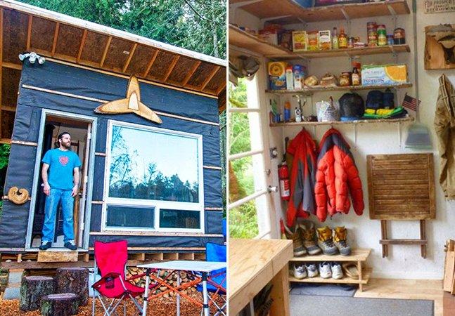 Homem gasta menos de U$ 500 para construir sua casa com materiais reaproveitados