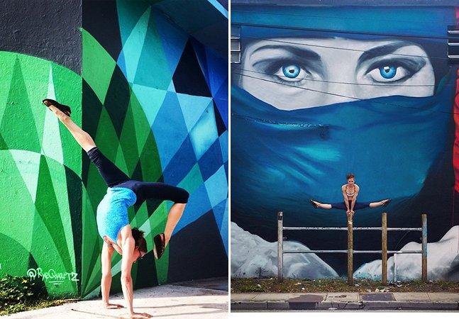 Yoga + street art: conheça a conta de Instagram que une poses poderosas e incríveis murais coloridos