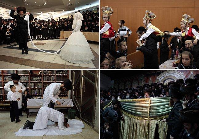 Série fotográfica mostra como são os rituais de judeus ultraortodoxos em Israel