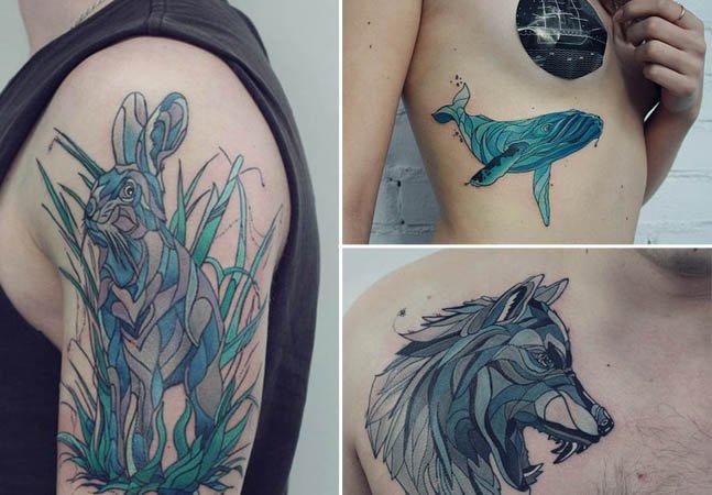 Artista russa usa linhas orgânicas pra criar tatuagens incríveis inspiradas na natureza