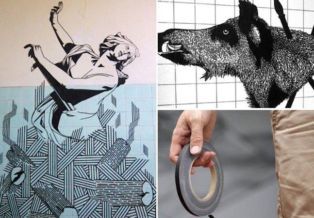 Australiano cria incríveis obras de arte temporárias utilizando fita adesiva