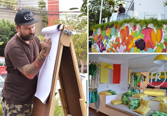 Fomos até uma aula de graffiti na loja da Fruttare em SP