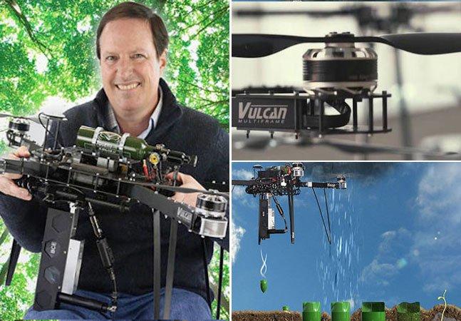 Startup quer usar drones para plantar milhões de árvores e salvar as florestas