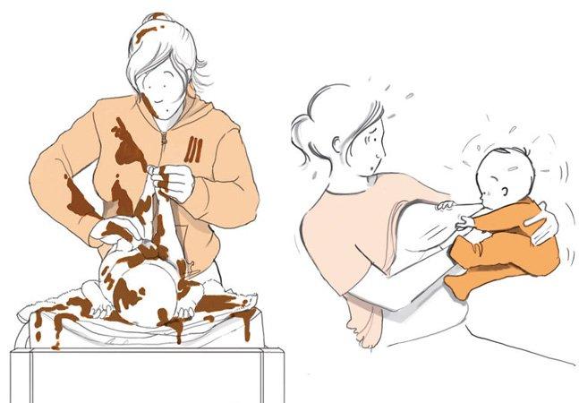 Ilustrações mostram o que ninguém te conta sobre ter filhos