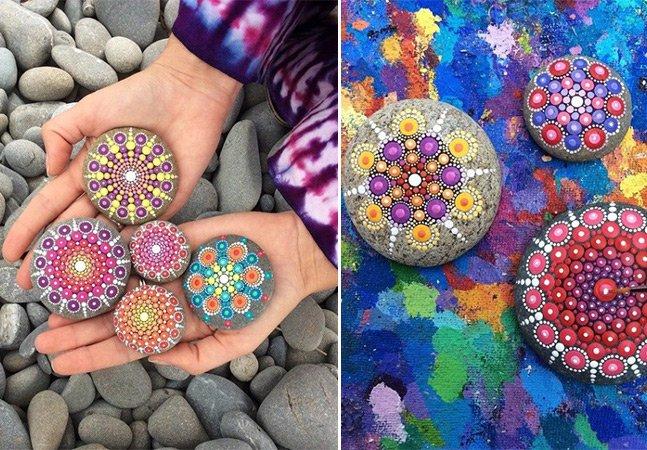 Artista cria mandalas hipnotizantes feitas em pedras encontradas no mar