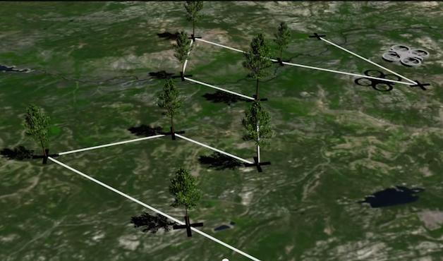 mapa drone OKK