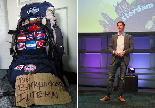 A história do publicitário holandês que viaja o mundo trocando trabalho por comida e abrigo