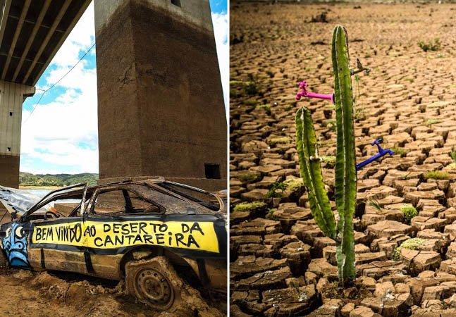 Arte urbana sobre a crise hídrica reúne artistas em exposição em SP