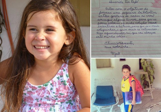 A garota de 7 anos que está arrecadando livros pra criar uma biblioteca pública no interior de Alagoas