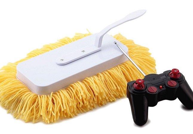 O incrível esfregão movido a pilhas que promete limpar a casa por você