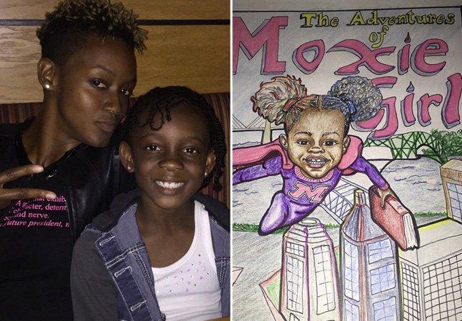 Mãe transforma a filha em personagem de história em quadrinhos para ajudá-la a se aceitar melhor
