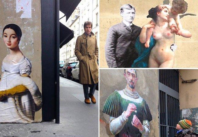 Projeto artístico leva personagens de quadros famosos para as ruas